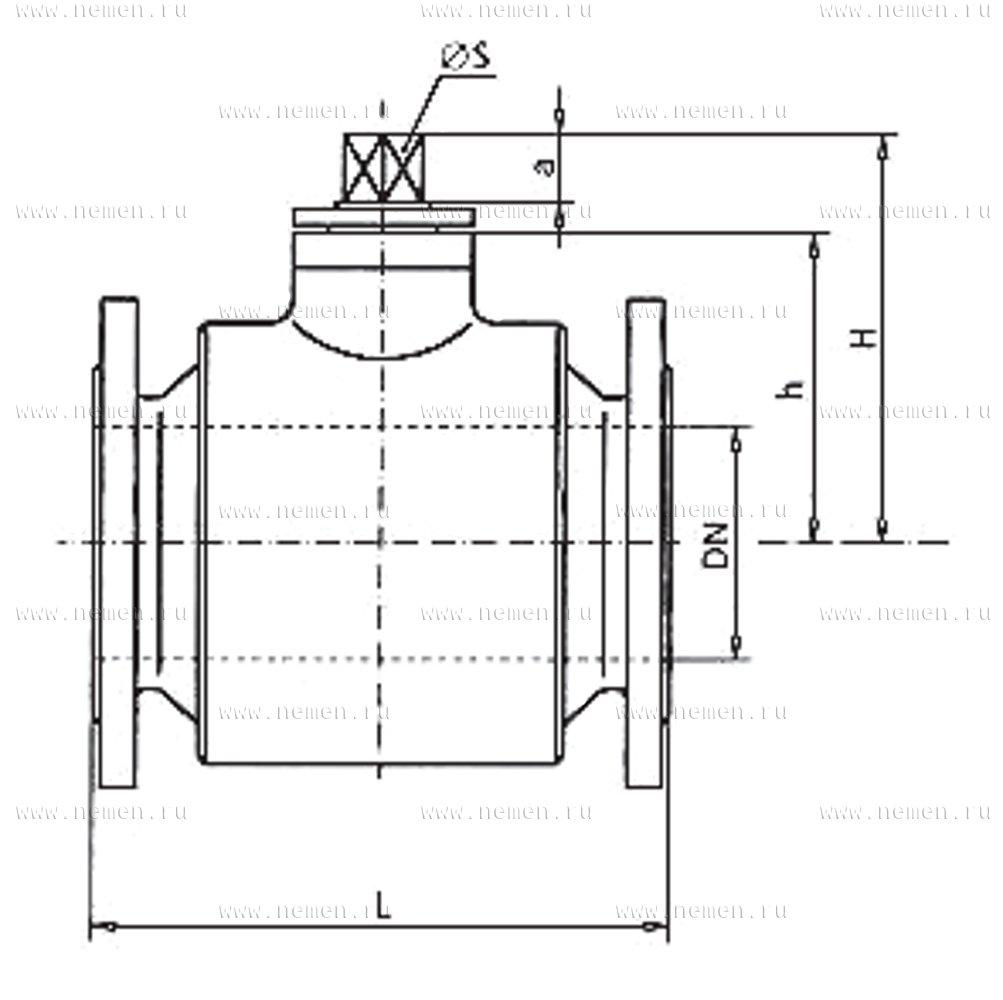 Кран шаровой АН-12с-40-125